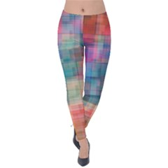 Rainbow Prism Plaid  Velvet Leggings by KirstenStar