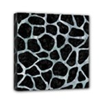 SKIN1 BLACK MARBLE & ICE CRYSTALS Mini Canvas 6  x 6