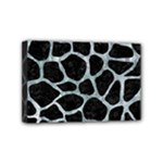 SKIN1 BLACK MARBLE & ICE CRYSTALS Mini Canvas 6  x 4