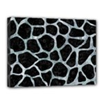 SKIN1 BLACK MARBLE & ICE CRYSTALS Canvas 16  x 12