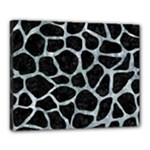 SKIN1 BLACK MARBLE & ICE CRYSTALS Canvas 20  x 16