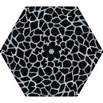 SKIN1 BLACK MARBLE & ICE CRYSTALS Mini Folding Umbrellas