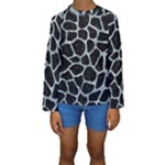 SKIN1 BLACK MARBLE & ICE CRYSTALS Kids  Long Sleeve Swimwear