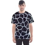 SKIN1 BLACK MARBLE & ICE CRYSTALS Men s Sports Mesh Tee