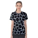SKIN1 BLACK MARBLE & ICE CRYSTALS Women s Cotton Tee