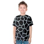 SKIN1 BLACK MARBLE & ICE CRYSTALS Kids  Cotton Tee