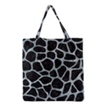 SKIN1 BLACK MARBLE & ICE CRYSTALS Grocery Tote Bag