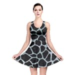 SKIN1 BLACK MARBLE & ICE CRYSTALS Reversible Skater Dress