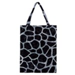 SKIN1 BLACK MARBLE & ICE CRYSTALS Classic Tote Bag