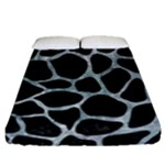 SKIN1 BLACK MARBLE & ICE CRYSTALS Fitted Sheet (Queen Size)