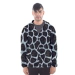 SKIN1 BLACK MARBLE & ICE CRYSTALS Hooded Wind Breaker (Men)