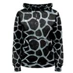 SKIN1 BLACK MARBLE & ICE CRYSTALS Women s Pullover Hoodie