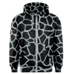 SKIN1 BLACK MARBLE & ICE CRYSTALS Men s Zipper Hoodie