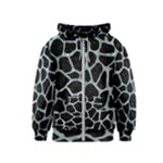 SKIN1 BLACK MARBLE & ICE CRYSTALS Kids  Zipper Hoodie