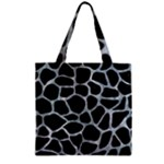 SKIN1 BLACK MARBLE & ICE CRYSTALS Zipper Grocery Tote Bag