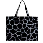 SKIN1 BLACK MARBLE & ICE CRYSTALS Zipper Mini Tote Bag
