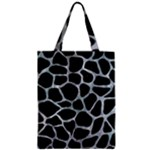 SKIN1 BLACK MARBLE & ICE CRYSTALS Zipper Classic Tote Bag