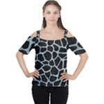 SKIN1 BLACK MARBLE & ICE CRYSTALS Cutout Shoulder Tee