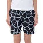 SKIN1 BLACK MARBLE & ICE CRYSTALS Women s Basketball Shorts