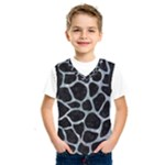 SKIN1 BLACK MARBLE & ICE CRYSTALS Kids  SportsWear