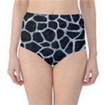 SKIN1 BLACK MARBLE & ICE CRYSTALS High-Waist Bikini Bottoms