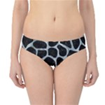 SKIN1 BLACK MARBLE & ICE CRYSTALS Hipster Bikini Bottoms