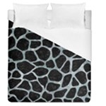 SKIN1 BLACK MARBLE & ICE CRYSTALS Duvet Cover (Queen Size)