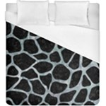 SKIN1 BLACK MARBLE & ICE CRYSTALS Duvet Cover (King Size)