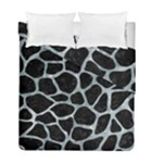 SKIN1 BLACK MARBLE & ICE CRYSTALS Duvet Cover Double Side (Full/ Double Size)