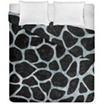 SKIN1 BLACK MARBLE & ICE CRYSTALS Duvet Cover Double Side (California King Size)