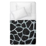 SKIN1 BLACK MARBLE & ICE CRYSTALS Duvet Cover (Single Size)
