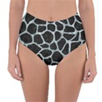 SKIN1 BLACK MARBLE & ICE CRYSTALS Reversible High-Waist Bikini Bottoms