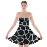 SKIN1 BLACK MARBLE & ICE CRYSTALS Strapless Bra Top Dress