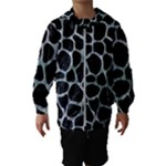 SKIN1 BLACK MARBLE & ICE CRYSTALS Hooded Wind Breaker (Kids)