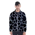 SKIN1 BLACK MARBLE & ICE CRYSTALS Wind Breaker (Men)