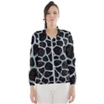 SKIN1 BLACK MARBLE & ICE CRYSTALS Wind Breaker (Women)