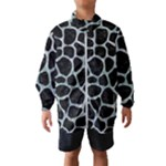 SKIN1 BLACK MARBLE & ICE CRYSTALS Wind Breaker (Kids)
