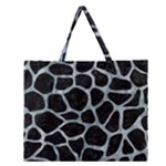 SKIN1 BLACK MARBLE & ICE CRYSTALS Zipper Large Tote Bag