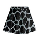SKIN1 BLACK MARBLE & ICE CRYSTALS Mini Flare Skirt
