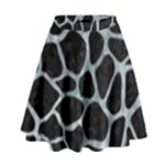 SKIN1 BLACK MARBLE & ICE CRYSTALS High Waist Skirt