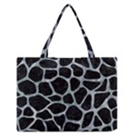SKIN1 BLACK MARBLE & ICE CRYSTALS Zipper Medium Tote Bag