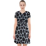 SKIN1 BLACK MARBLE & ICE CRYSTALS Adorable in Chiffon Dress