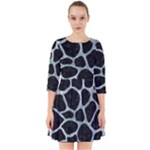 SKIN1 BLACK MARBLE & ICE CRYSTALS Smock Dress