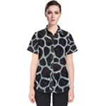 SKIN1 BLACK MARBLE & ICE CRYSTALS Women s Short Sleeve Shirt