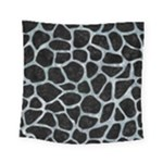SKIN1 BLACK MARBLE & ICE CRYSTALS Square Tapestry (Small)