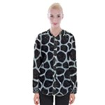 SKIN1 BLACK MARBLE & ICE CRYSTALS Womens Long Sleeve Shirt