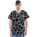 SKIN1 BLACK MARBLE & ICE CRYSTALS Men s V-Neck Scrub Top