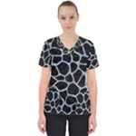 SKIN1 BLACK MARBLE & ICE CRYSTALS Scrub Top