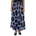 SKIN1 BLACK MARBLE & ICE CRYSTALS Flared Maxi Skirt