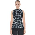SKIN1 BLACK MARBLE & ICE CRYSTALS Shell Top